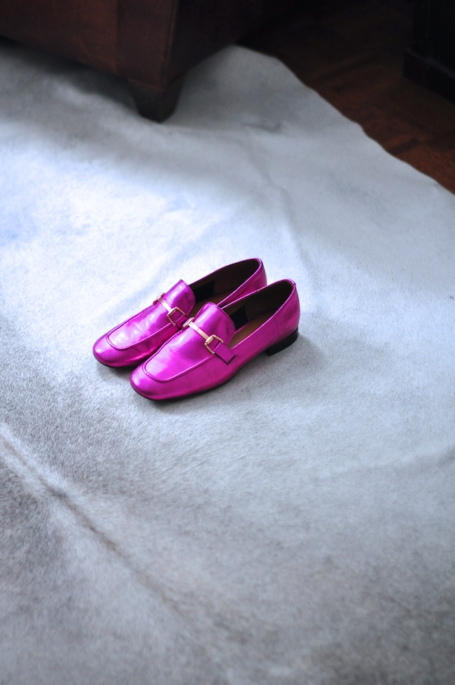 Topshop metallic karter loafers