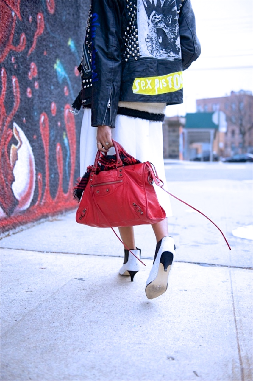 Balenciaga red city bag