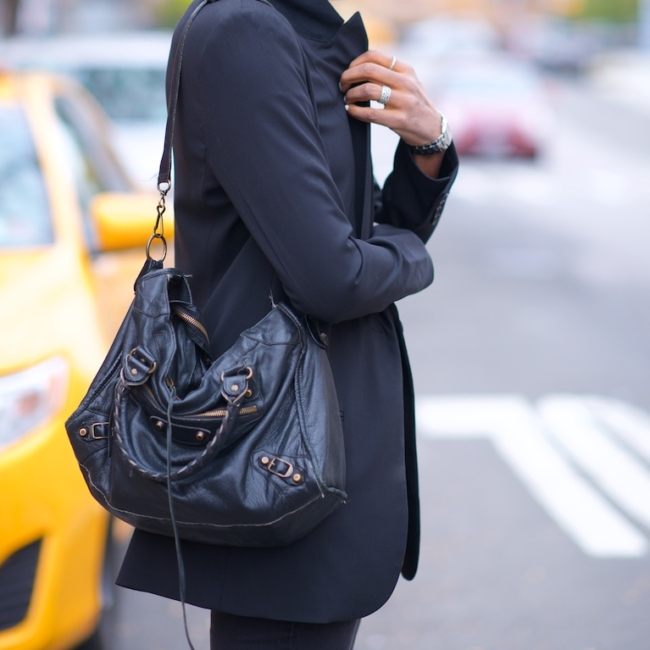 Balenciaga black city bag