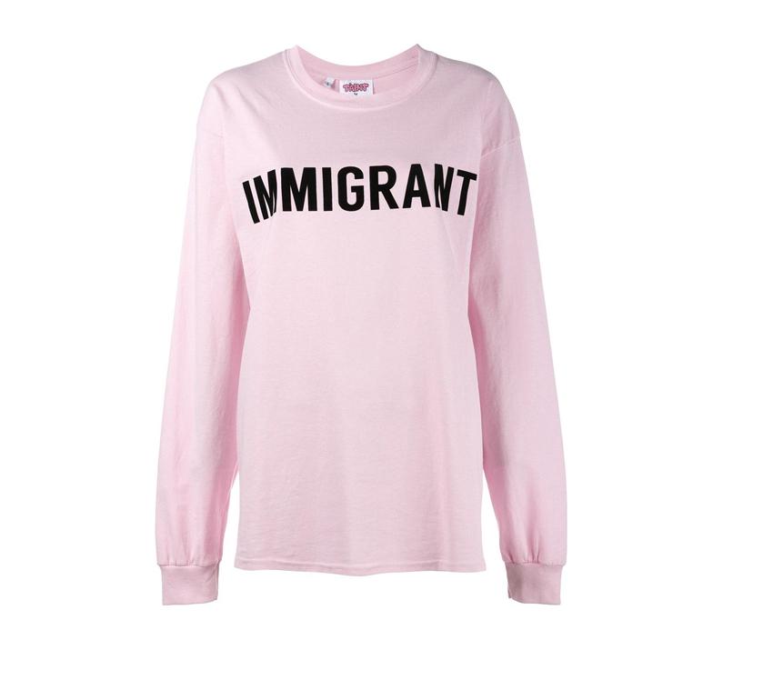 Ashish immigrant sweatshirt