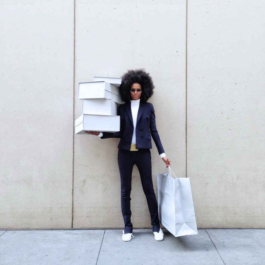 black fashion editorial