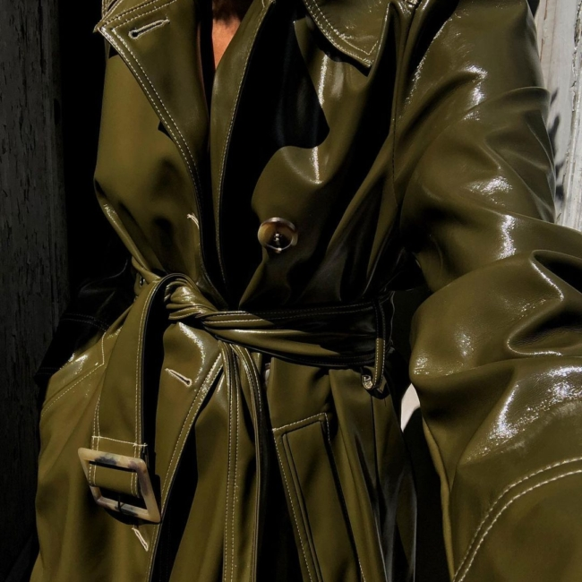 patent trench coat street style karenbritchick