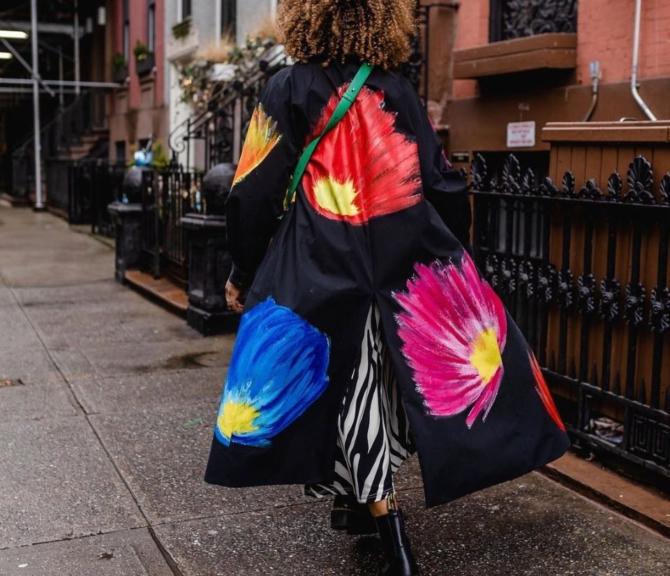 karen street style clashing prints