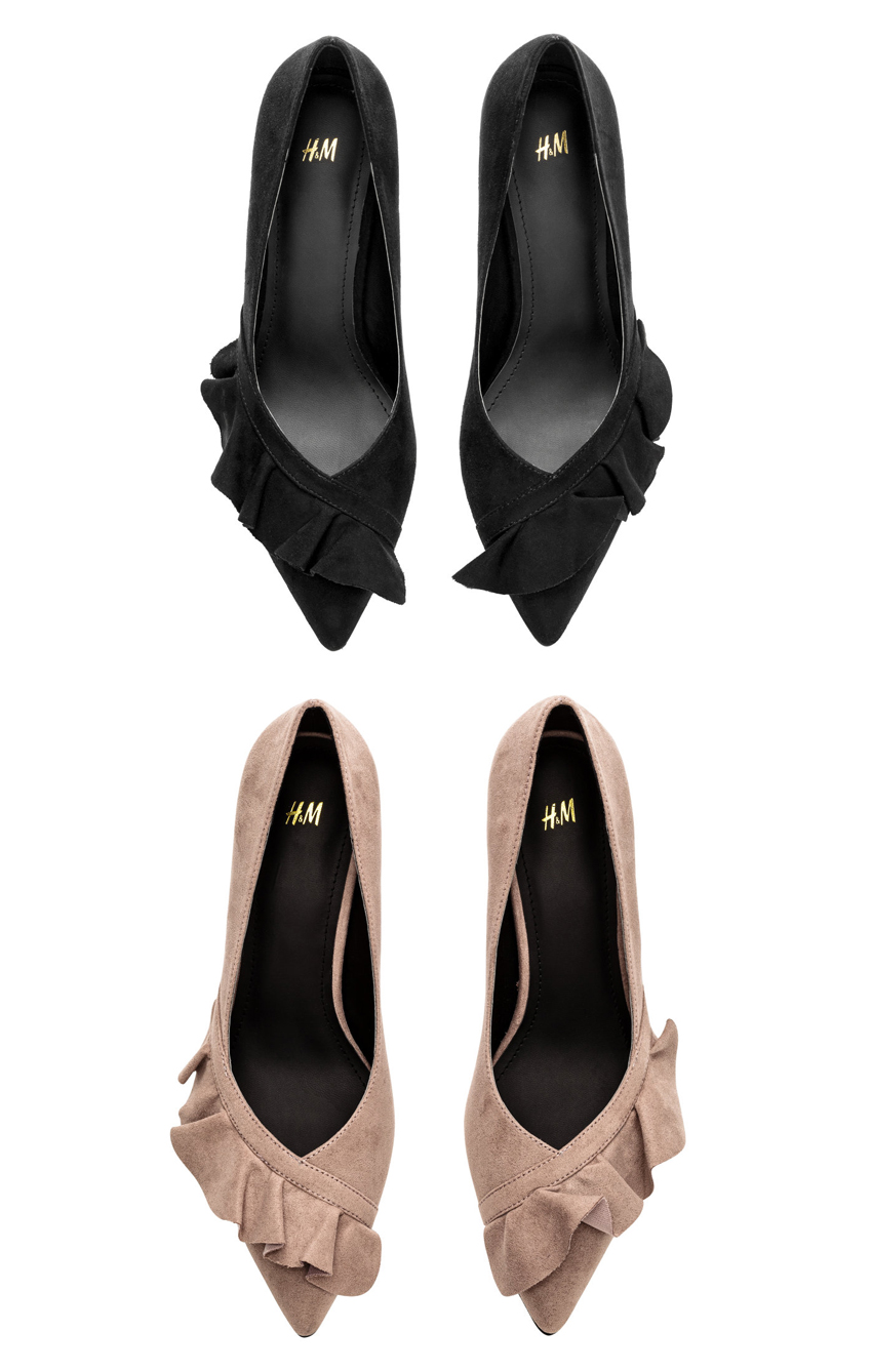 H&M pumps with ruffles