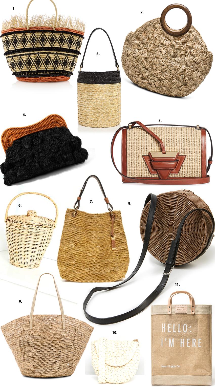 straw raffia bags