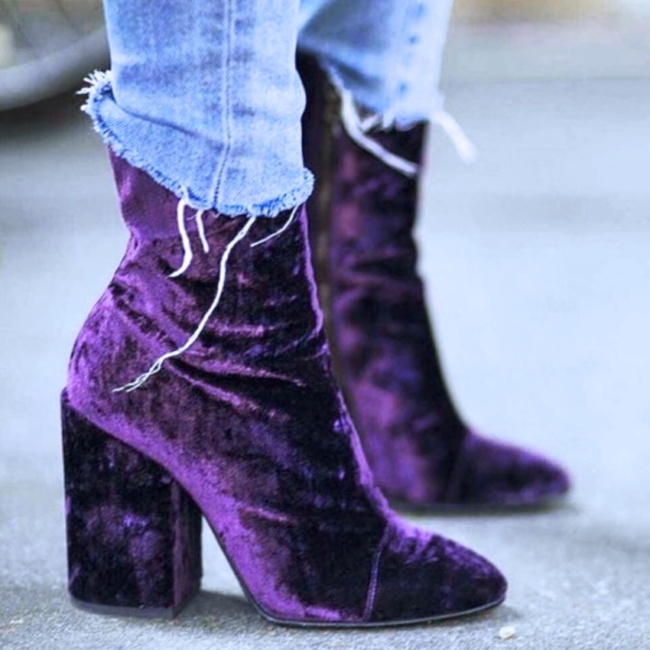 Dries van noten velvet boots