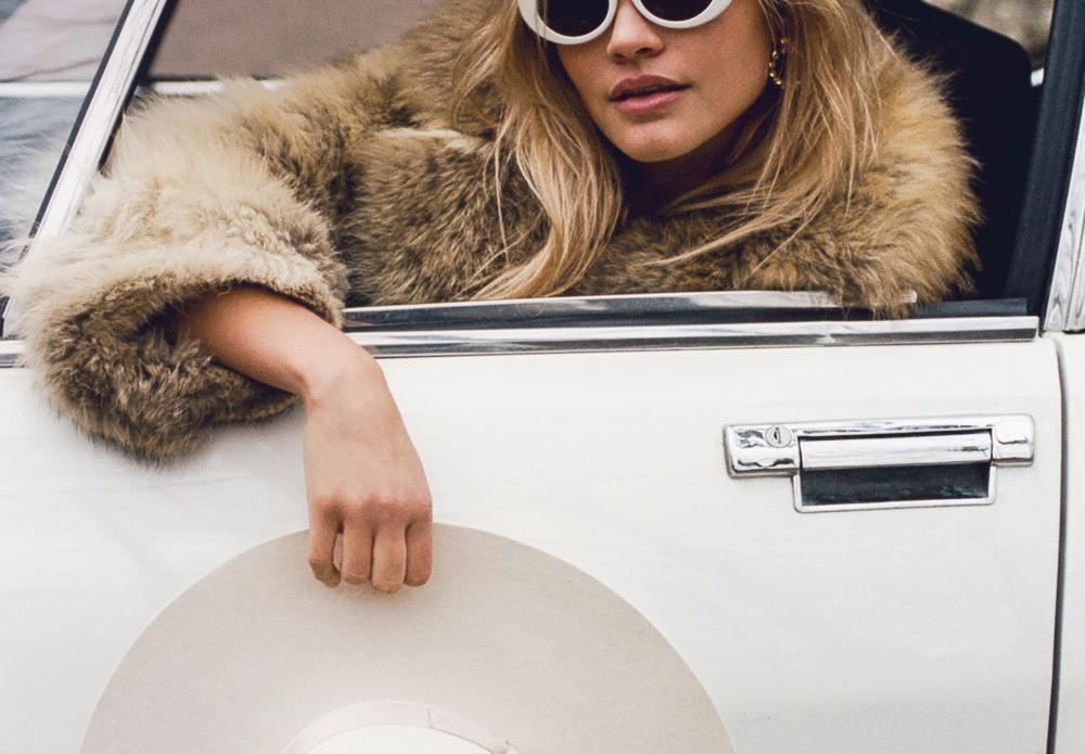 Acne White sunglasses